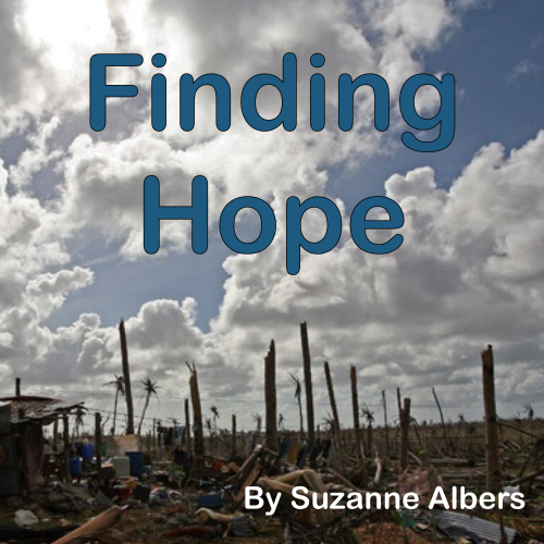 Artwork from the book - Finding Hope by Suzanne Albers - Illustrated by by Suzanne Albers based on photos taken by Plan staff after Typhoon Haiyan - Ourboox.com