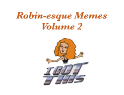 Robin-esque Memes Volume 2! - by Robin Farmanfarmaian
