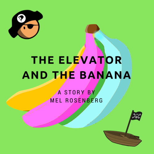 Artwork from the book - The Elevator and the Banana (Russian Version) – Про лифт и бананы – Translated by Irena Brodeski by Mel Rosenberg - מל רוזנברג - Ourboox.com