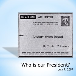 # 81 – Who is our President? - by Stephen Pohlmann