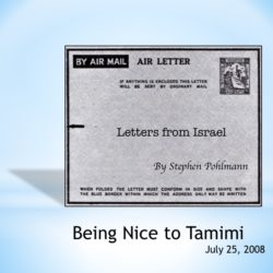 # 99 – Being Nice to Tamimi - by Stephen Pohlmann