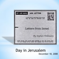 # 104 – Day in Jerusalem - by Stephen Pohlmann