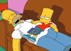 The Simpsons Stories: Homer And Bart Meet Dribble & Spitz - by Darcy May Partridge