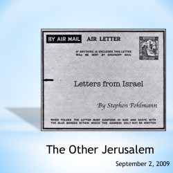# 125 – The Other Jerusalem - by Stephen Pohlmann