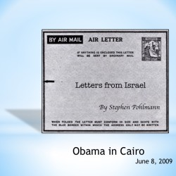 # 132 – Obama in Cairo - by Stephen Pohlmann