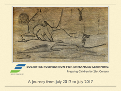SFEL Journey - by Socrates Foundation for Enhanced Learning