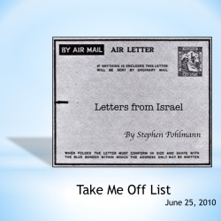 # 152 – Take Me Off List - by Stephen Pohlmann