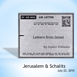 # 155 – Jerusalem & Schavits - by Stephen Pohlmann