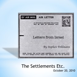 # 159 – The Settlements Etc. - by Stephen Pohlmann