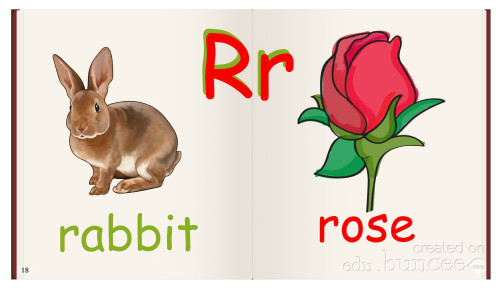 Artwork from the book - My Picture Alphabet by Rositsa Mineva - Illustrated by Teacher Rose - Ourboox.com