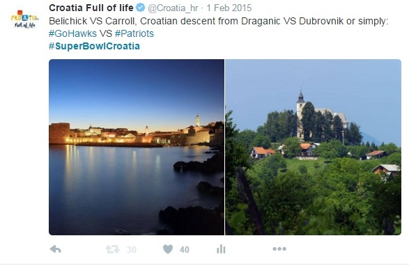Screenshot of a twitter post from @croatia_hr