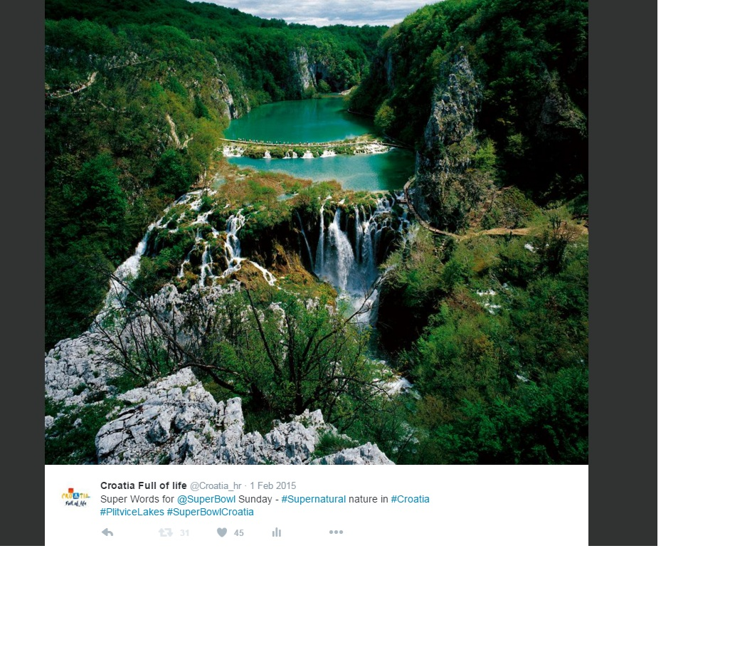 Screenshot of a twitter post by @croatia_hr