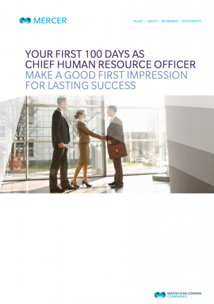 Your First 100 Days as Chief Human Resource Officer
