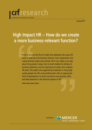 Executive Summary: High Impact HR - How do we create a more business-relevant function?