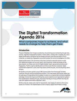 The Digital Transformation Agenda 2016