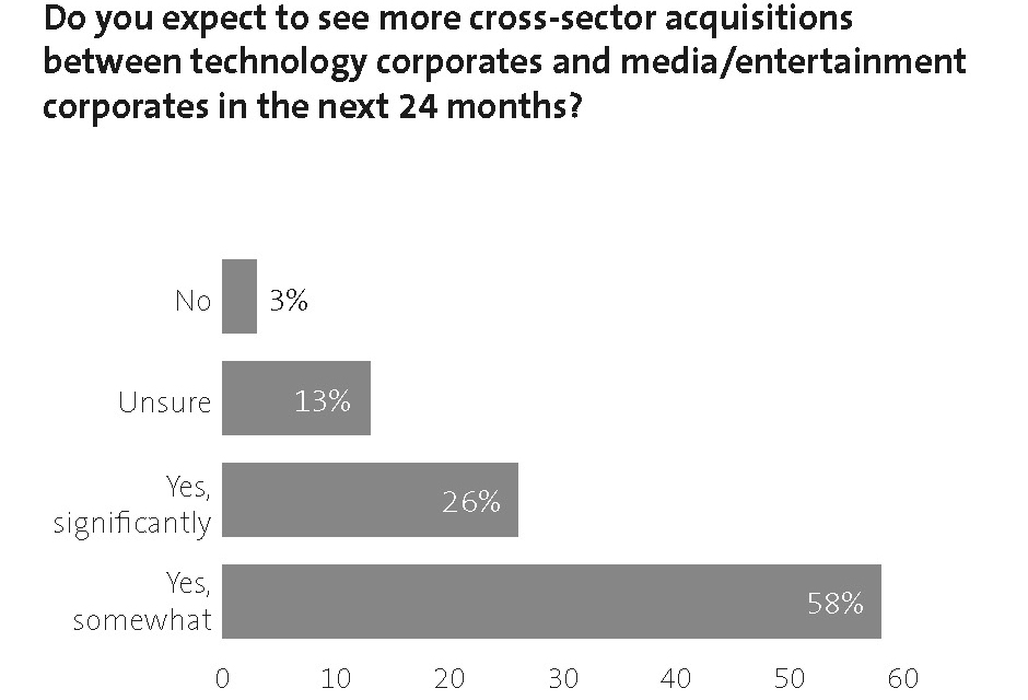 Do you expect to see more cross-sector acquisitions between technology corporates and media entertainment corporates in the next 24 months