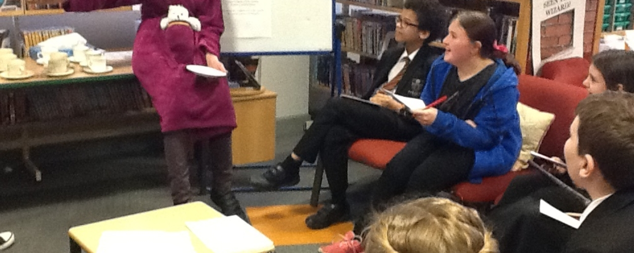National 'Harry Potter Day' celebration at Parkside with our Librarian - Mrs Watson