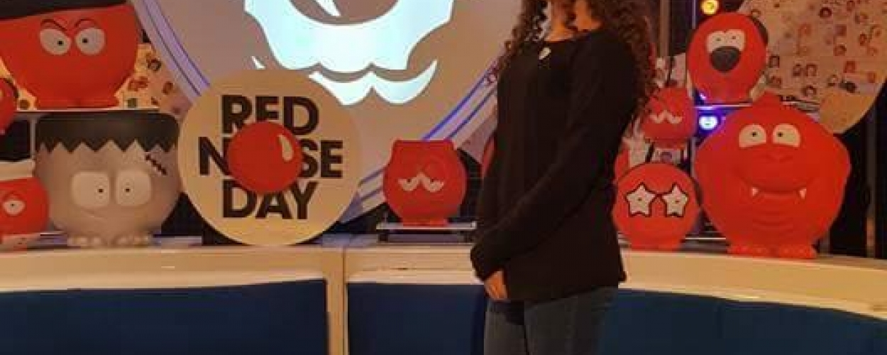 Ellie mixes with the stars at Comic Relief