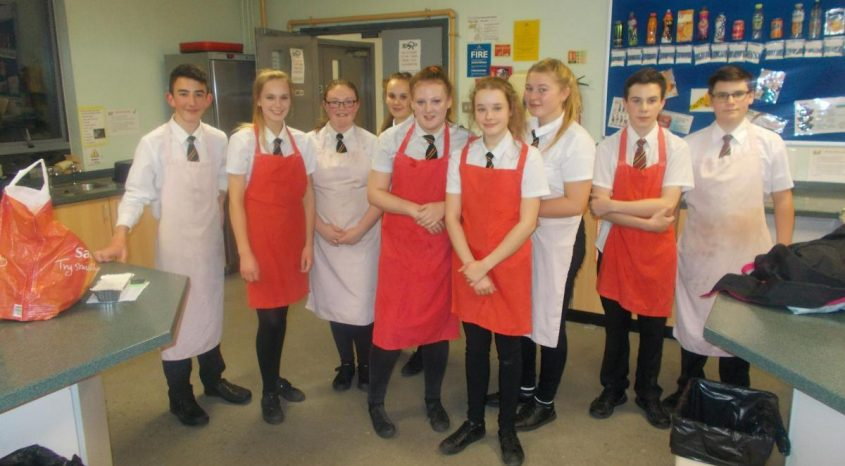 Complex and varied meals cooked up by Parkside School students in Cullingworth