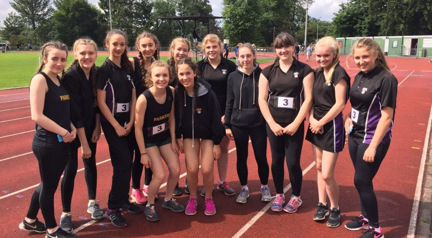 Success for Parkside Inter Girls athletics team