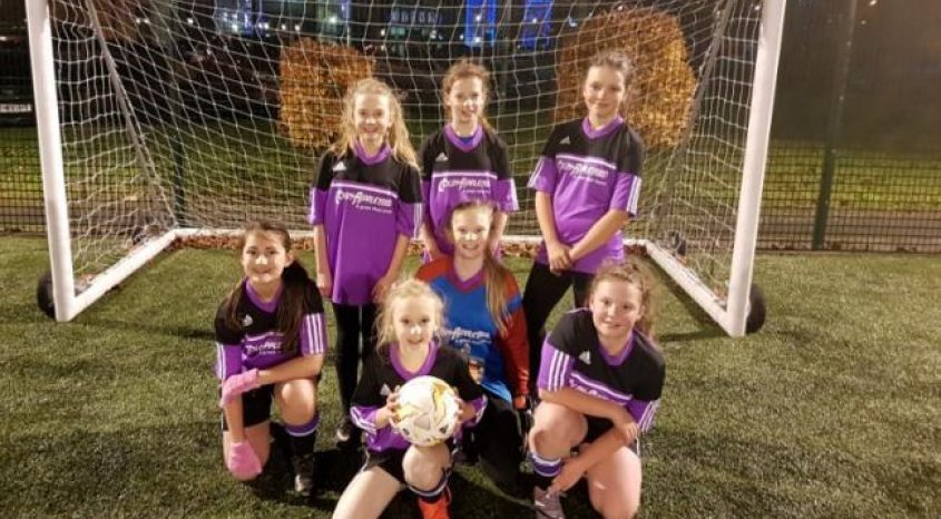 Parkside's under-13s girls score their first goal in Bradford soccer match