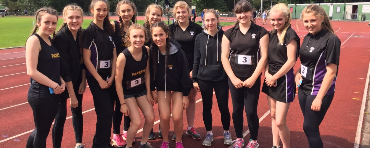 Success for Parkside Inter Girls athletics team