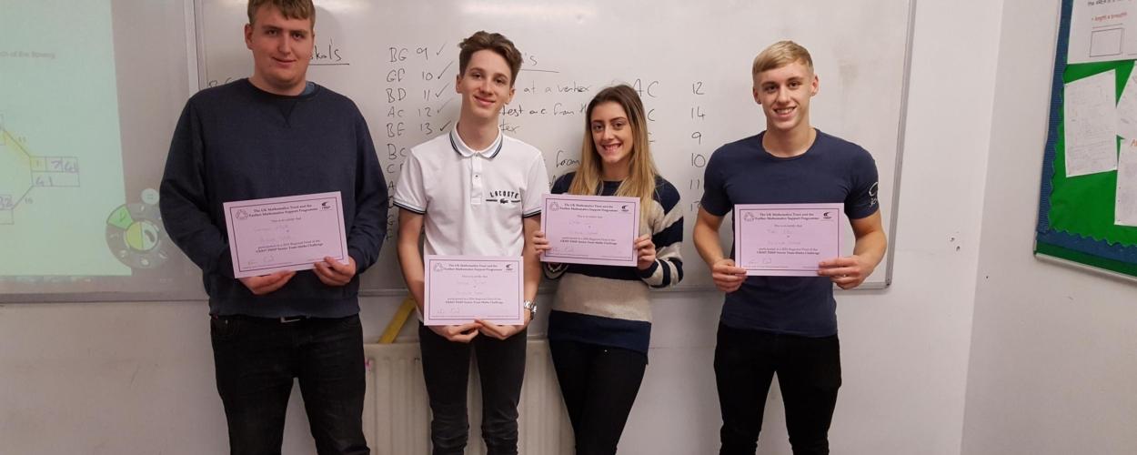 Parkside School quartet take part in Leeds maths competition