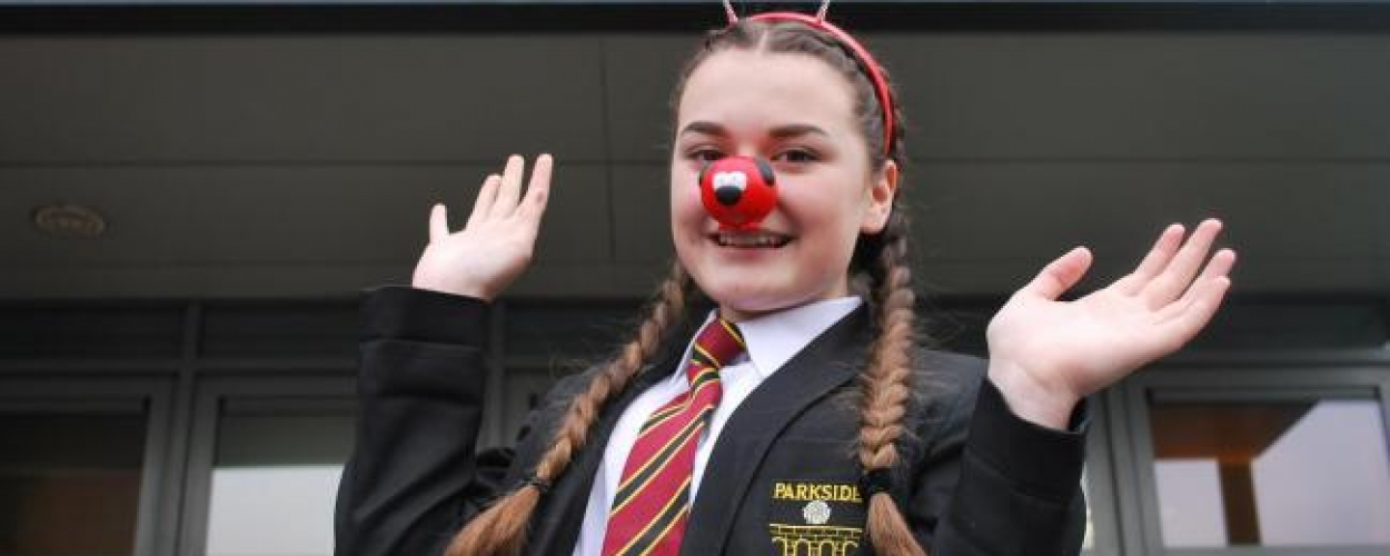 Parkside student makes a difference in Africa for Comic Relief
