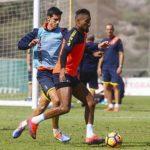 Boateng y Lemos vuelven al trabajo con el grupo en Las Burras