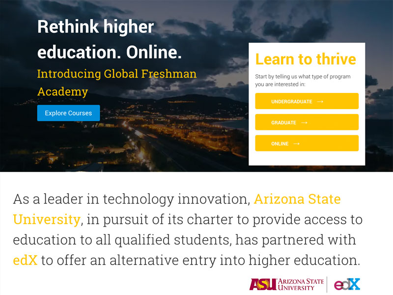 Arizona State University and edX