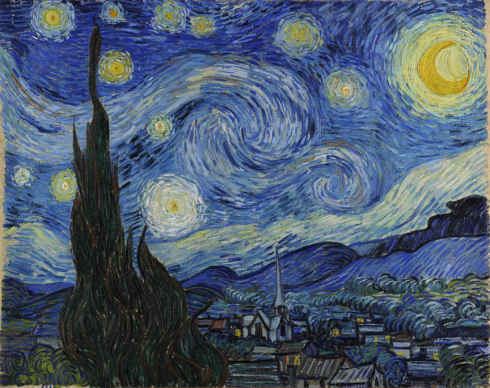 Yıldızlı Gece Van Gogh Garip Ay