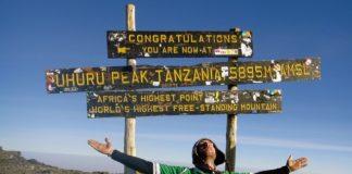 Kilimanjaronun zirvesinde