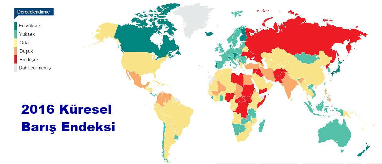 Dünya barış endeksi 2016