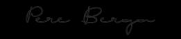 Firma Pere Berga