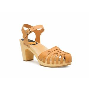 Swedish Hasbeens Snake Sandal, color naturale, suola naturale /Nature Sole