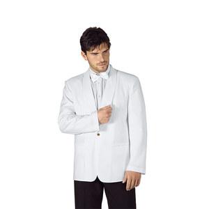 Giacca collo a scialle bianca