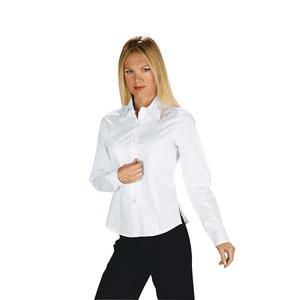 Camicia donna bianca manica lunga cotone elasticizzato