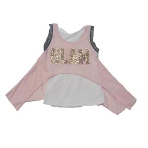 Shirt canotta rosa/oro Glam