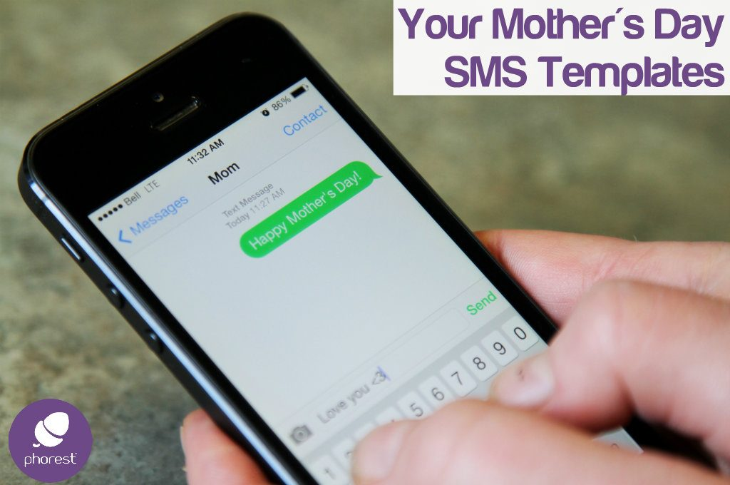 sending a text on mother's day