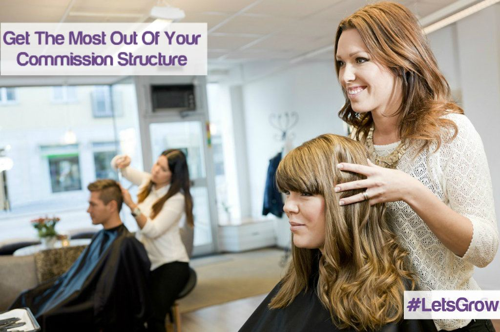 Salon stylist and client preparing for treatment