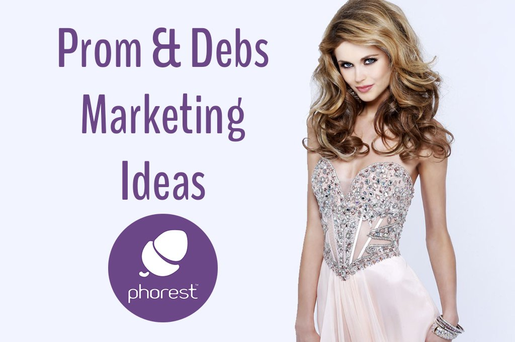 attractive blonde in glamorous dress prom and debs marketing ideas