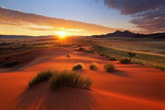 Sunrise in Namibia