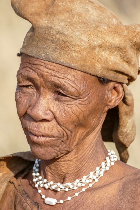 A portrait of a lady of the San tribe