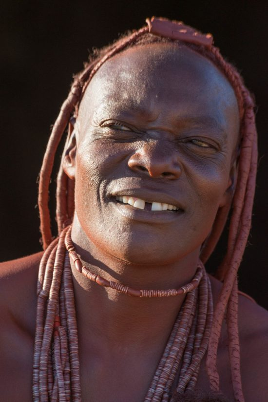 A close up of a Ovahimbas girl from Namibia