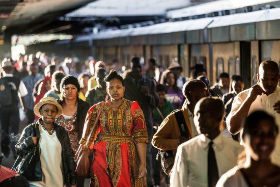 A train platform in Africa