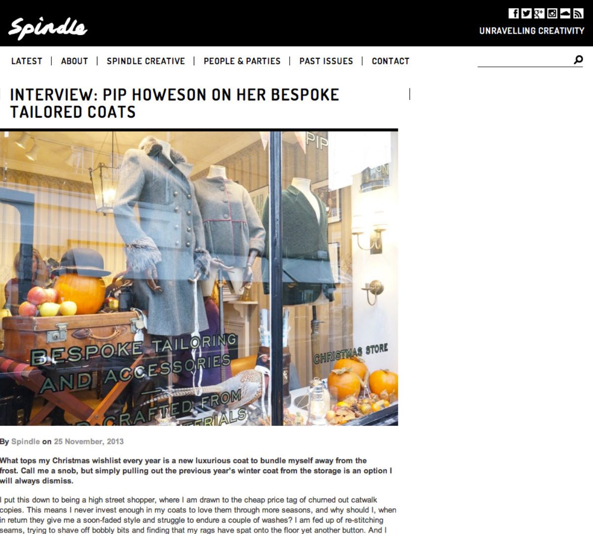 Pip Howeson Spindle Interview