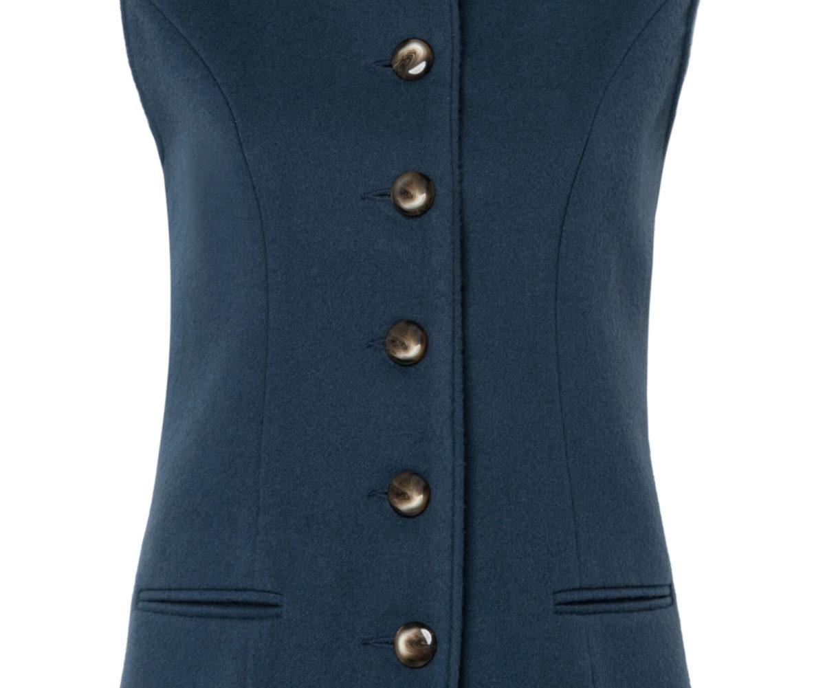 Pip Howeson Annie Waistcoat Pale Blue Button Detail