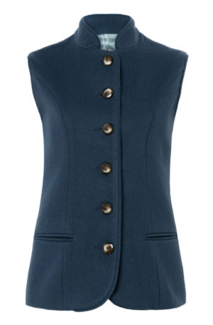 Pip Howeson Annie Waistcoat Pale Blue Closed