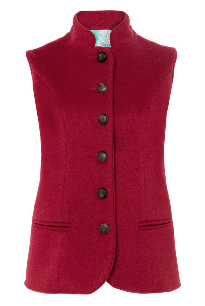 Pip Howeson Annie Waistcoat Red