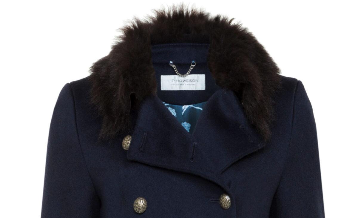 Pip Howeson Margot Coat Neck Detail